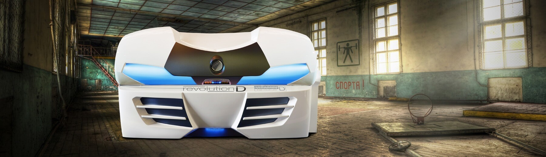 Aparat de bronzat Megasun seria Collarium model Revolution D