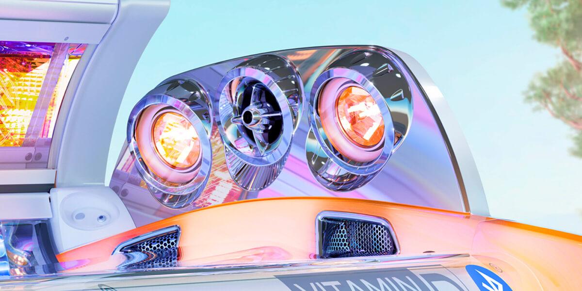 Aparat de bronzat Megasun seria Alpha 7000 beautyline detalii