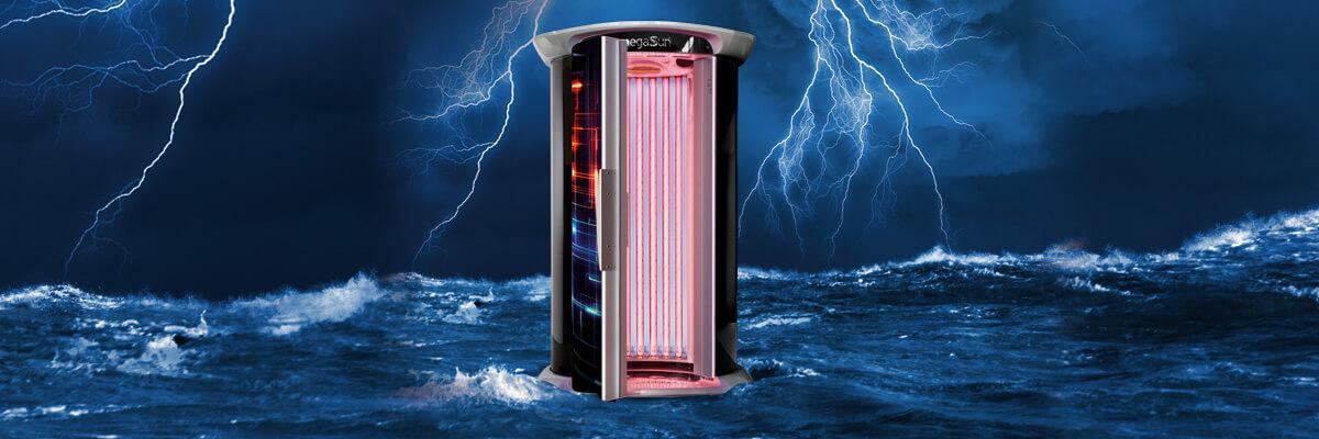 Aparat de bronzat Megasun Standsolariem Thunder Tower Hybrid